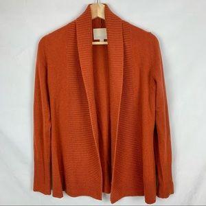 BANANA REPUBLIC 100% Cashmere Burnt Orange Open Front Cardigan Sz XS